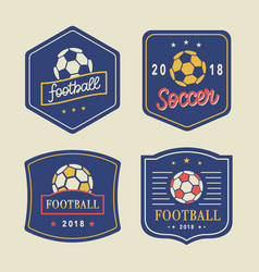 Football logo template set vector