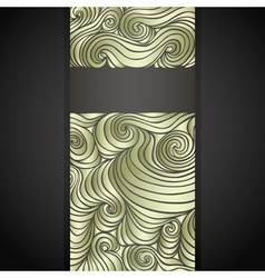 golden doodle label vector image vector image