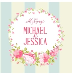 Luxurious marriage card vector image