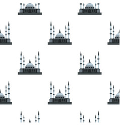 muslim mosque pattern seamless vector image vector image