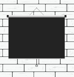 projector screen on brick wall vector image