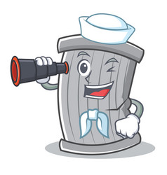 sailor trash character cartoon style vector image vector image