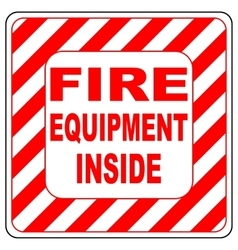 Sign of the fire extinguisher in isolated vector image vector image