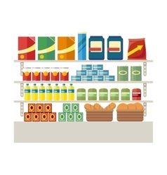 Supermarkets and grocery stores retail shop vector