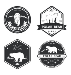 Vintage bear icons mascot emblems and vector