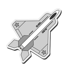 Combat aircraft icon vector