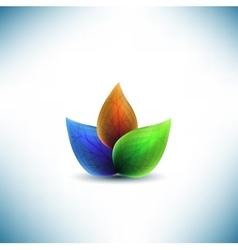 fresh leaves design vector image