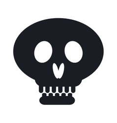 Pirate skull isolated icon vector