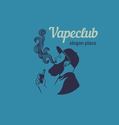 Creative logos for the club shop or electronic cig vector