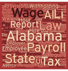 B payroll alabama unique aspects of alabama vector