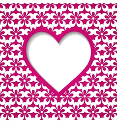 greeting card or wedding invitation vector image