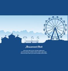 Scenery amusement park style background vector