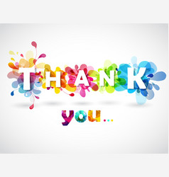 thank you quotation with colorful abstract vector image