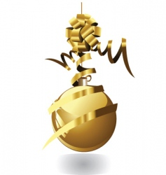 Golden globe vector
