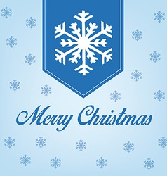 A blue background with snowflakes and text for chr vector