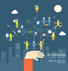 Concept business people agreement teamwork flat vector
