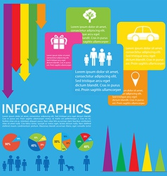 A colourful infochart vector