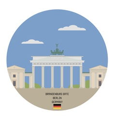 Brandenburg gate berlin vector