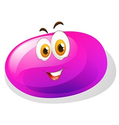 Purple slime with smiling face vector