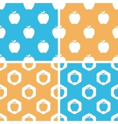 Apple pattern set colored vector