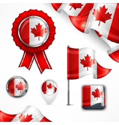 Canadian national symbols vector