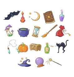 Haloween and game icon set vector