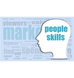 People skills head profile icon woman vector