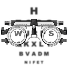 Eyesight test glasses and reading boards vector