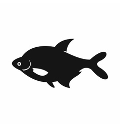 Fish icon simple style vector
