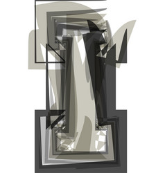 Abstract letter i vector