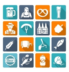 Beer icons set flat vector image vector image
