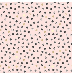 Black and golden spots abstract pink background vector