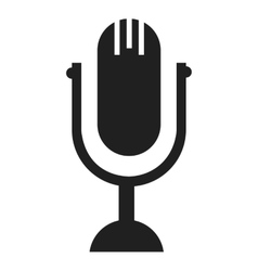 black and white microphone graphic vector image