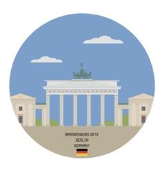 Brandenburg gate berlin vector