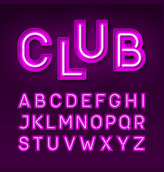 broadway night club vintage style neon font vector image vector image