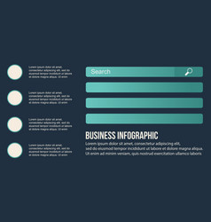 Collection stock business infographic design vector