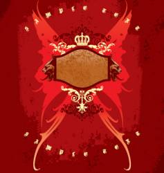 crown wings and heads vector image