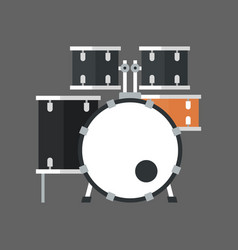Drum set icon music instrument concept vector