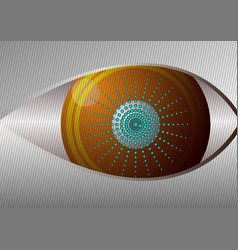 Eye design concept curved lines and gray vector