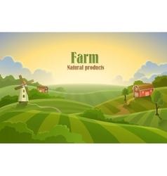 Farm flat landscape vector image