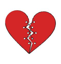 heart broken symbol vector image vector image