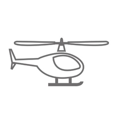 Helicopter vehicle isolated icon vector