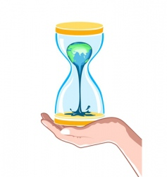 hour watch in hand vector image vector image