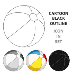 Inable multicolored ballsummer rest single icon vector