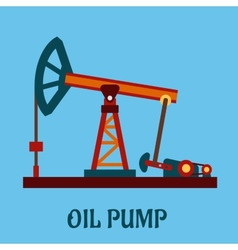 Isolated flat oil pump icon vector image vector image