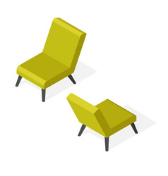 isometric trendy chair vector image