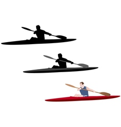 Kayaking vector