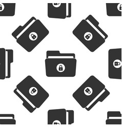 locked folder icon seamless pattern vector image vector image