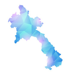 Map of laos polygon vector