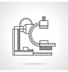 Mri machine flat line icon vector